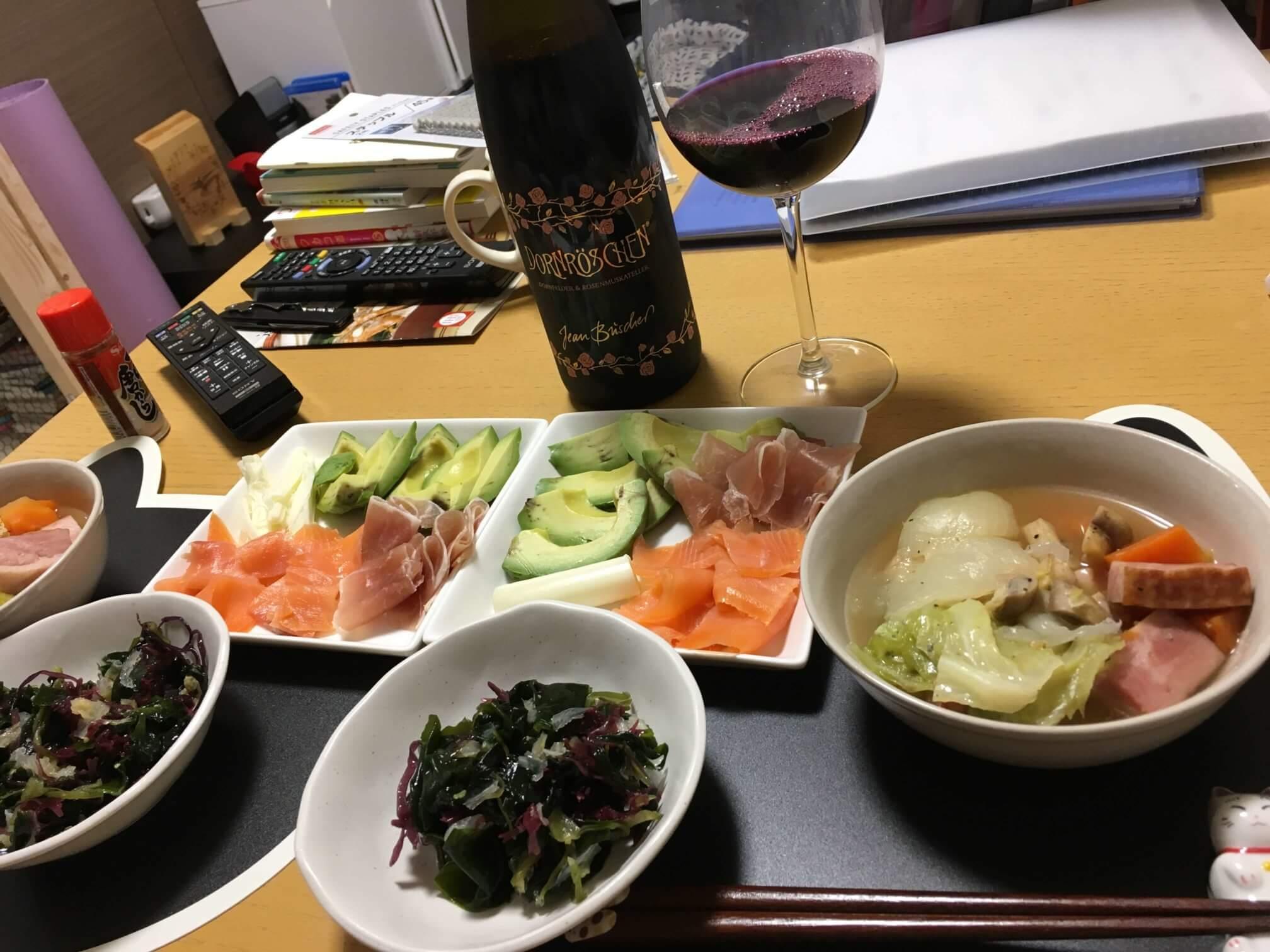 ワインとポトフ
