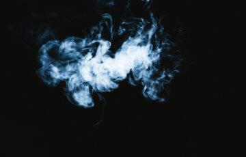 モワッとした煙