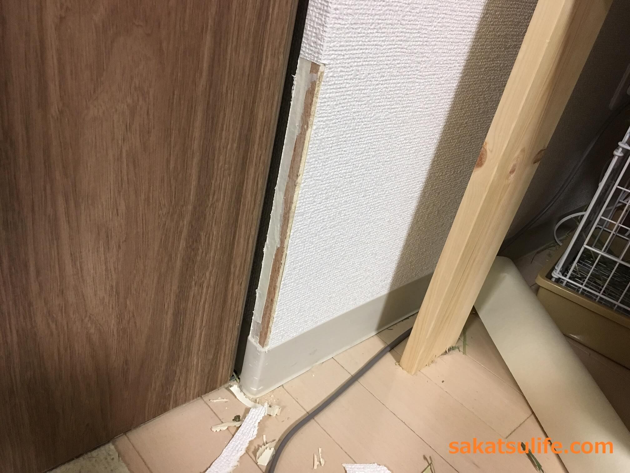 誰でもできる 角の壁紙の簡単な直し方